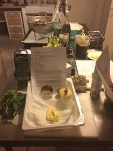 recepten en ingrediënten voor de kookworkshop liggen klaar